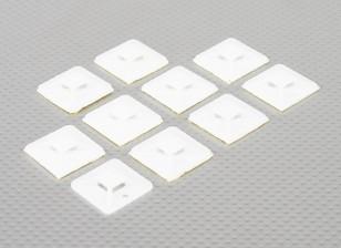 Cable Tie ancore autoadesive di formato medio - 10pcs / bag