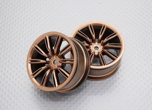 Scala 1:10 di alta qualità Touring / Drift Wheels RC 12 millimetri Hex (2pc) CR-VIRAGEG