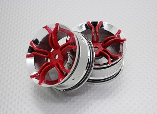 Scala 1:10 di alta qualità Touring / Drift Wheels RC 12 millimetri auto Hex (2pc) CR-MP4R