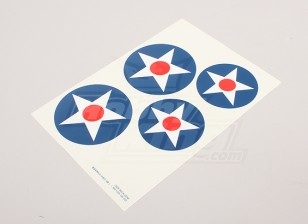 Scala nazionale Air Force Insignia Sticker Sheet - Stati Uniti d'America (grande tipo A)