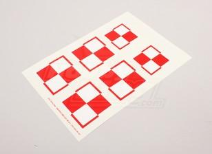 Scala nazionale Air Force Insignia Sticker Sheet - Polonia