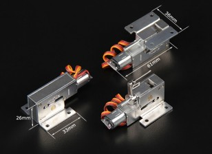 Turnigy Full Metal Servoless Retracts w / gruppo della punta orientabile (pin 3 mm)
