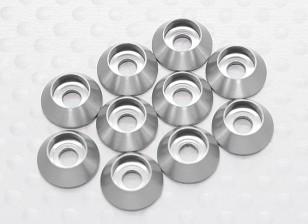 Sockethead Rondella alluminio anodizzato M3 (argento) (10pcs)