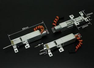 Turnigy 90 gradi tutto il metallo triciclo sistema Ritrarre con ruota anteriore dello sterzo (modelli 2kg AUW max)