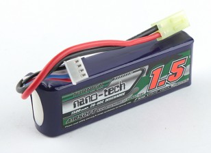 Turnigy nano-tech 1500mAh 3S 20-40C Lipo AIRSOFT Confezione