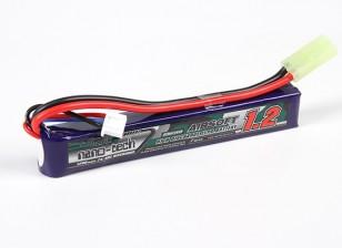 Turnigy nano-tech 1200mAh 2S 25-50C Lipo AIRSOFT Confezione
