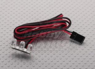 3 LED striscia rossa