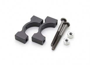 Anodizzato nero di alluminio di CNC del tubo morsetto 15 mm di diametro