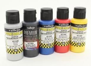 Vallejo Premium colore vernice acrilica - Metallic Selezione colore (5 x 60 ml)