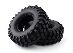 """1/10 Scala 1.9 """"Crawler Tire / KRT solido con inserto (2 pezzi)"""