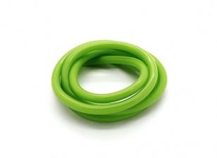 Heavy Duty silicone tubo verde carburante (Fuel Nitro) (1 mtr)