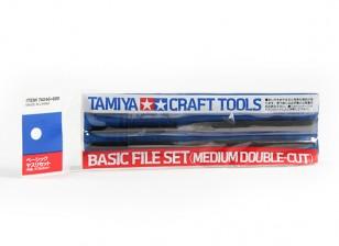 Tamiya File Set Base - Medium doppio taglio (3pc)
