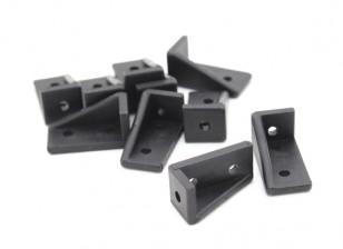 RotorBits 20x10 ad angolo retto staffa RH (nero) (10pcs / bag)