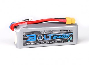 Turnigy Bolt 2400mAh 3S 11.4V 65 ~ 130C alta Lipoly pacchetto Voltage
