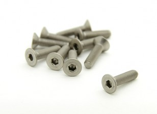 Titanium M3 x 12mm esagono incassato Vite (10pcs / bag)