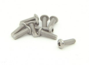 Titanium M3 x 10mm Dome testa esagonale Vite (10pcs / bag)