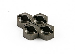Titanium Mozzi ruota (4 pezzi) - Basher 1/16 Mini Nitro Circus MT