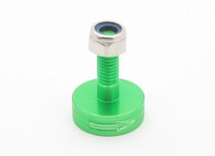 CNC alluminio M6 Quick Release Self-serraggio Prop Adapter - Verde (Prop laterale) (in senso orario)