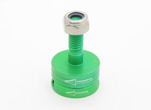 CNC alluminio M6 Quick Release Self-serraggio Prop Adapter Set - verde (in senso antiorario)