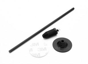 Mini GPS pieghevole Antenna Base Set / Nero