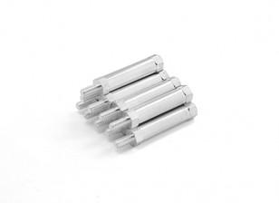 fine alluminio leggero rotonda Sezione Spacer con perno M3 x 25mm (10pcs / set)
