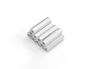 Alluminio leggero Hex Sezione Spacer M3 x 20mm (10pcs / set)