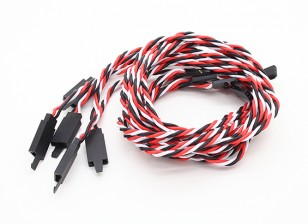 Ritorto 80 centimetri Servo Extention piombo (Futaba) con gancio 22 AWG (5pcs / bag)