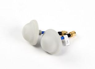 Magic Mushroom circolare polarizzata Antenna Set Stubby 5.8GHz (SMA)