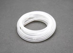 tubo del carburante Silicon (1 mtr) bianco per Nitro Motori 4x2.5mm