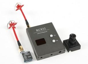 Skyzone P & P 25mW Set w / TS5825 Tx, Rx e RC832 Sony 480TVL fotocamera CCD e C / P Antenne