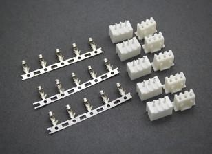 (2S) 3 Pin JST-XH Balancer connettori maschio / femmina (5 coppie)