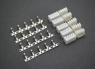 (3S) 4 Pin JST-XH Balancer connettori maschio / femmina (5 coppie)