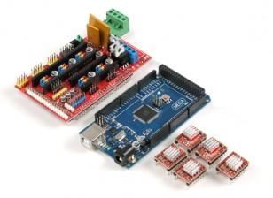Stampante 3D Control Board Kit 2560 di controllo principale R3 più RAMPE 1.4 plus4988 unità (con aletta di raffreddamento)