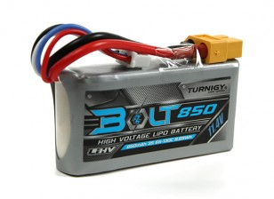 Turnigy Bolt 850mAh 3S 11.4V 65 ~ 130C High Voltage Lipoly Pack (LiHV)