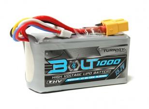 Turnigy Bolt 1000mAh 15.2V 4S 65 ~ 130C High Voltage Lipoly Pack (LiHV)