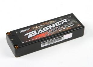 Basher 6600mAh 2S2P 40C Hardcase LiHV Confezione