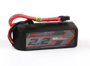 Turnigy grafene 2200mAh 4S 65C Lipo del pacchetto w / XT60