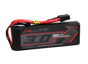 Turnigy grafene 3000mAh 3S 65C Lipo del pacchetto w / XT90