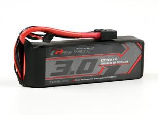 Turnigy grafene 3000mAh 4S 65C Lipo del pacchetto w / XT90