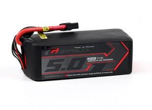 Turnigy grafene 5000mAh 6S LiPo 45C del pacchetto w / XT90