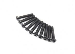 Metallo rotonda Machine Head Vite Esagonale M2.6x14-10pcs / set