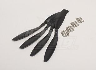 GWS Stile Slowfly dell'elica 11x4.7 Black (CCW) (4 pezzi)
