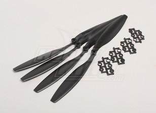 GWS Stile Slowfly dell'elica 12x4.5 Black (CCW) (4 pezzi)