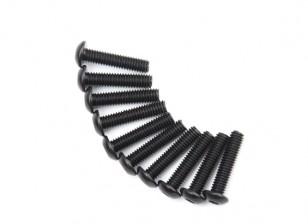 Metallo rotonda Machine Head Vite Esagonale M4x18-10pcs / set