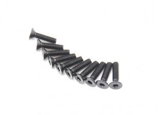 Metallo a testa piatta macchina Vite Esagonale M2x8-10pcs / set