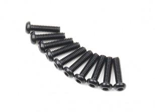 Metallo rotonda Machine Head Vite Esagonale M2x8-10pcs / set