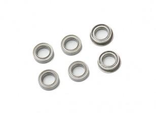 Bearing set (4 + 2 cuscinetto flangia del cuscinetto)