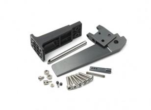 CNC timone in lega di alluminio con set supporto timone di plastica