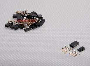 JST-SH Servo Plug Set (JR) placcato oro (10pairs / set)