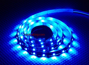 Turnigy ad alta densità di R / C LED striscia flessibile-Blue (1mtr)